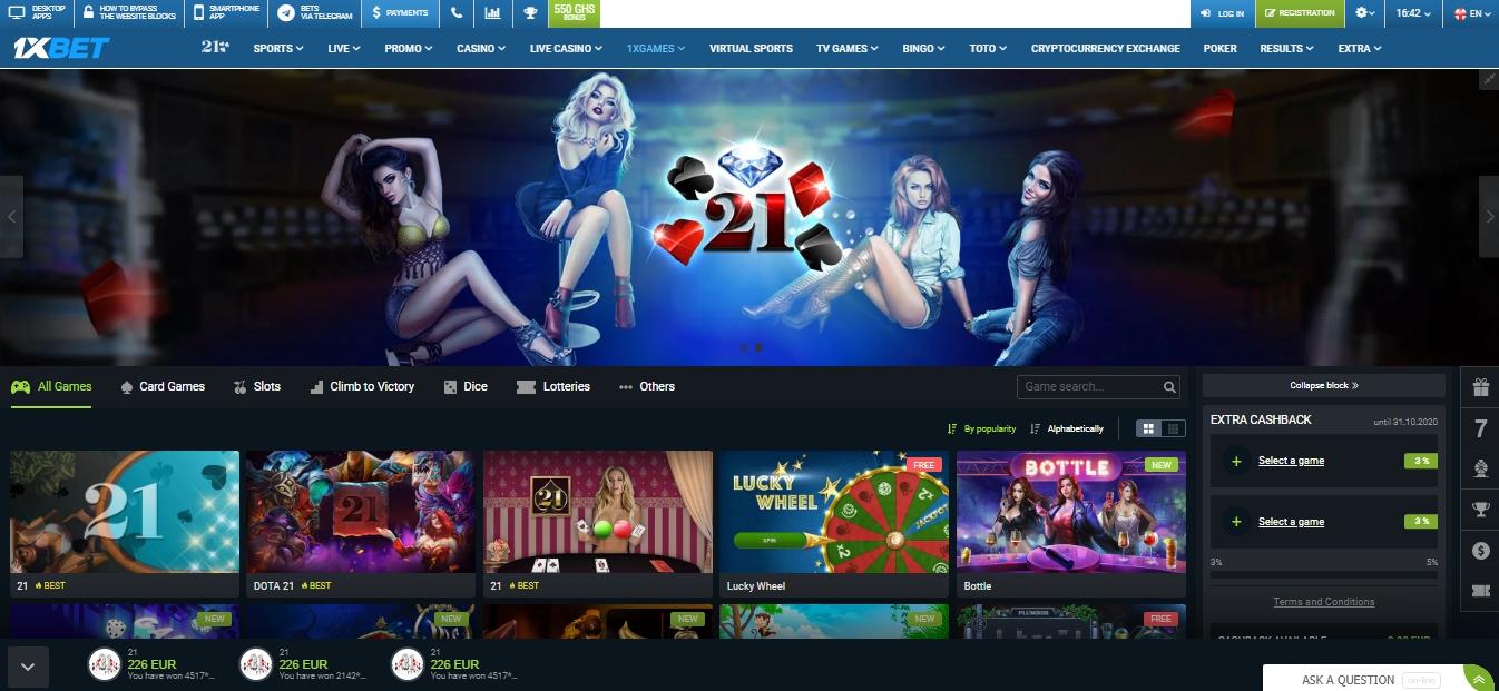 1xBet Casino slots